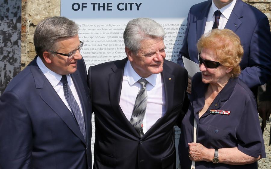 Bronisław Komorowski, Joachim Gauck i ciocia polskiego prezydenta Halina Wołłowicz