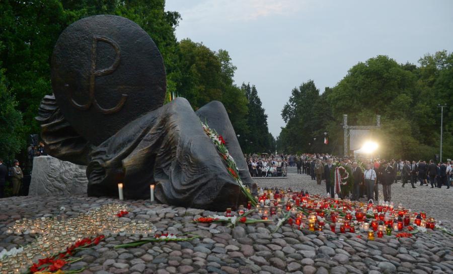 Uroczystości na cmentarzu wolskim