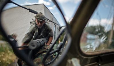 """Żołnierz ochotniczego proukraińskiego batalionu """"Donbas"""""""