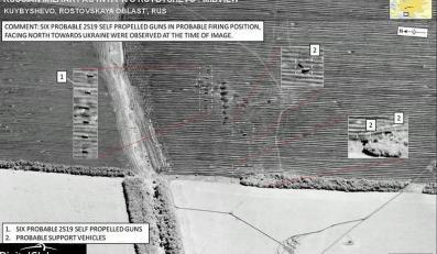 Mapy satelitarne udostępnione przez NATO