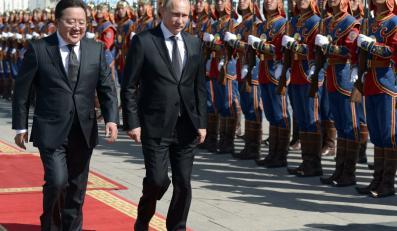Władimir Putin podczas wizyty w Mongolii