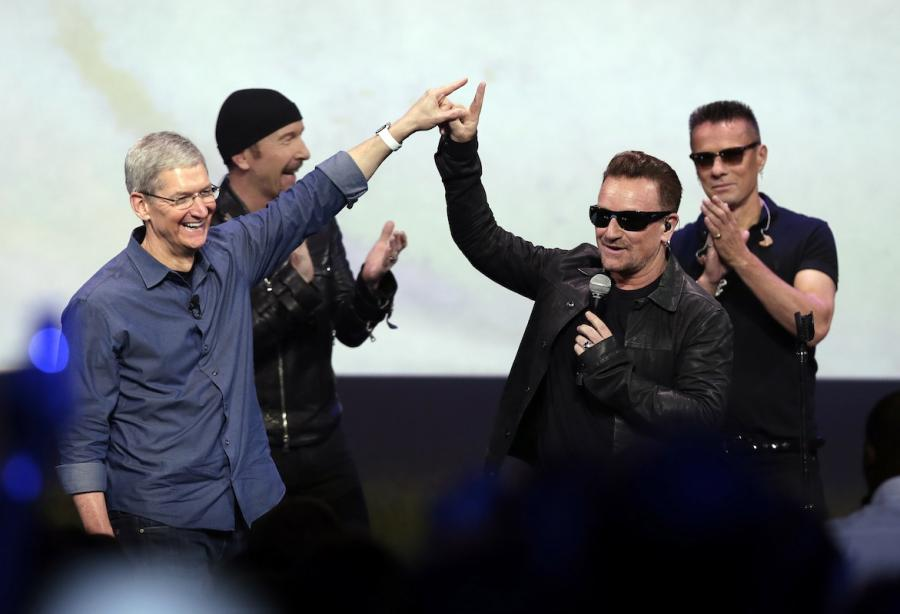 U2 na konferencji Apple