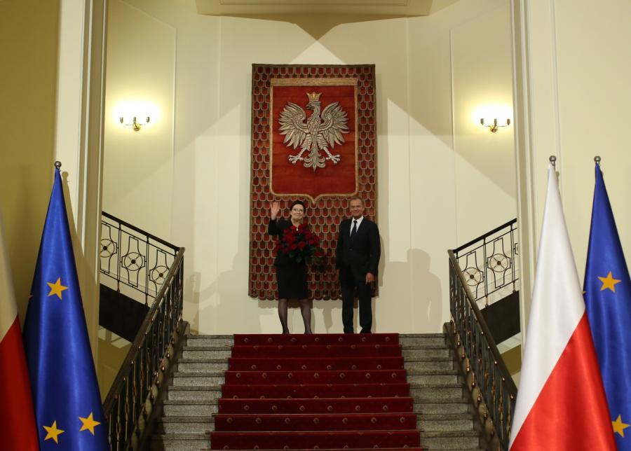 Ewa Kopacz i Donald Tusk