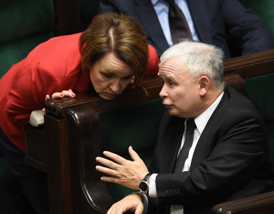 Anna Zalewska i Jarosław Kaczyński