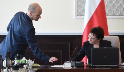 Szef RCL Maciej Berek i premier Ewa Kopacz