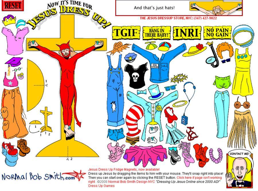 Jezus w stroju diabła oburzył publicystów