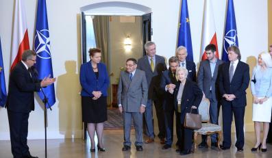 Prezydent Bronisław Komorowski podczas spotkania z darczyńcami Muzeum Historii Żydów Polskich