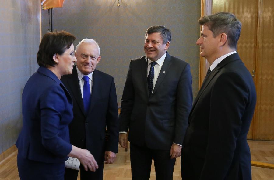 Ewa Kopacz,Janusz Palikot, Leszek Miller i Janusz Piechociński