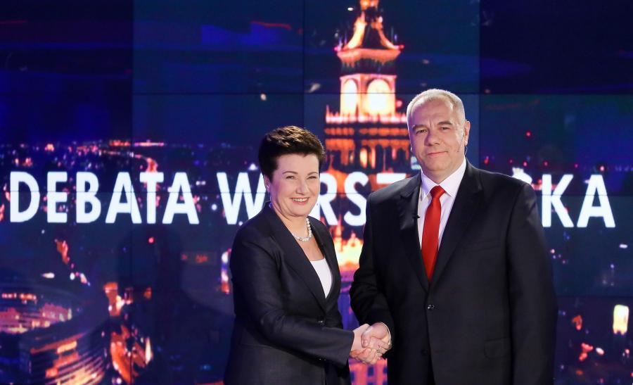 Jacek Sasin i Hanna Gronkiewicz-Waltz