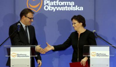 Radosław Witkowski i Ewa Kopacz