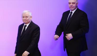 Jarosław Kaczyński i Jacek Sasin, kandydat PiS na prezydenta Warszawy
