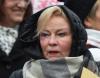 """Pisarka i felietonistka Krystyna Kofta, podczas """"Marszu pand"""""""