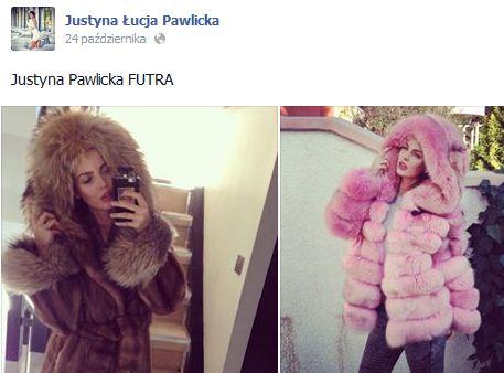 Justyna Pawlicka w naturalnych futrach