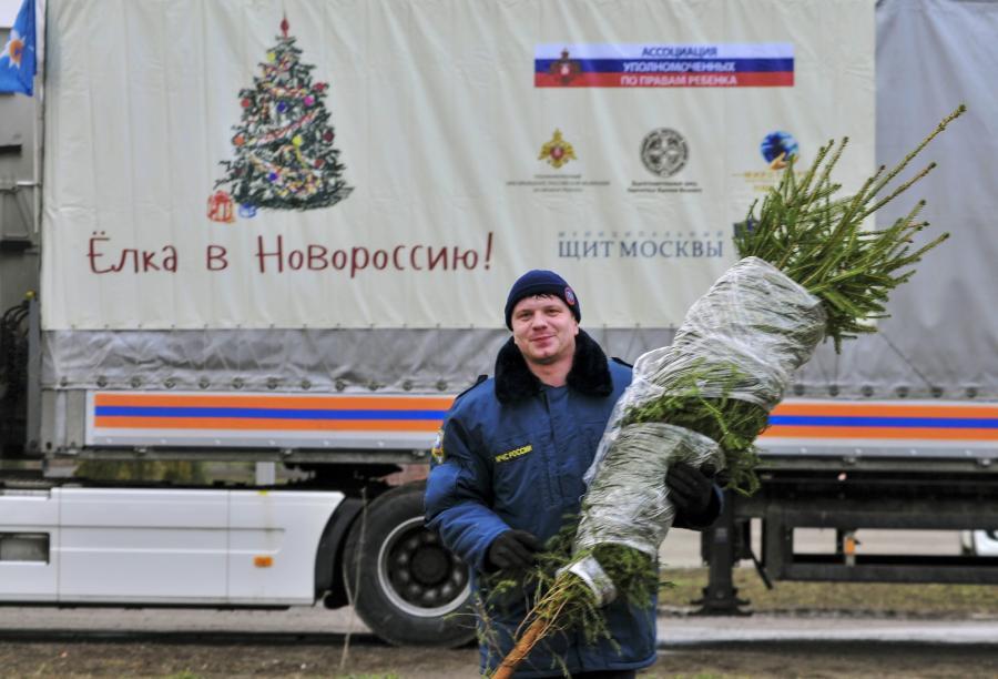 Rosyjski konwój szykuje się do drogi