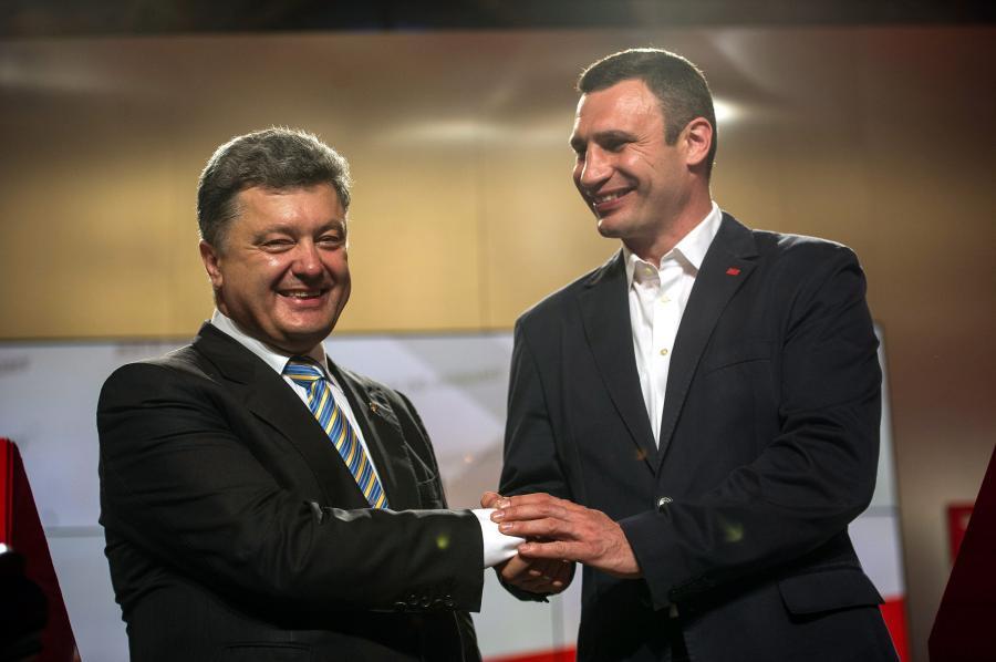 Petro Poroszenko i Witalij Kliczko