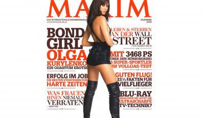 """Piękna Olga na pkładce """"Maxima"""""""