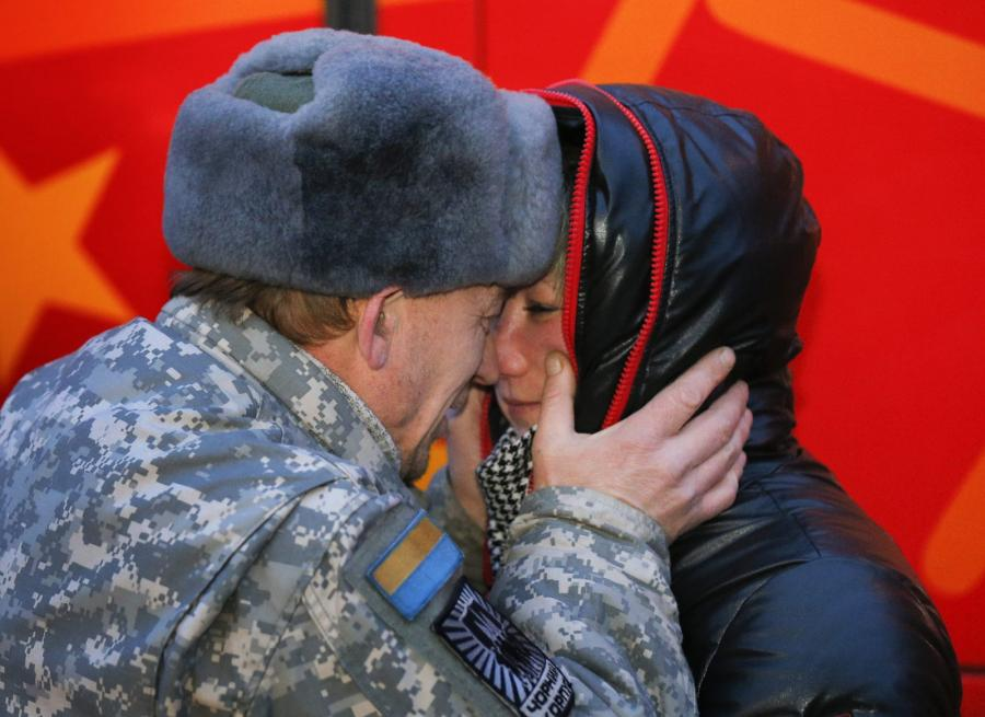 Ukraiński ochotnik z batalionu \