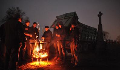 Akcja protestacyjna OPZZ rolników na drodze krajowej numer 2 pomiędzy Siedlcami a Międzyrzecem Podlaskim