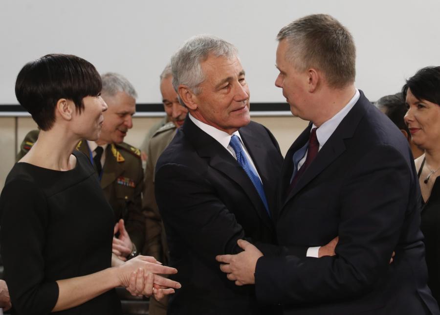 Amerykański sekretarz obrony Chuck Hagel i szef MON Tomasz Siemoniak