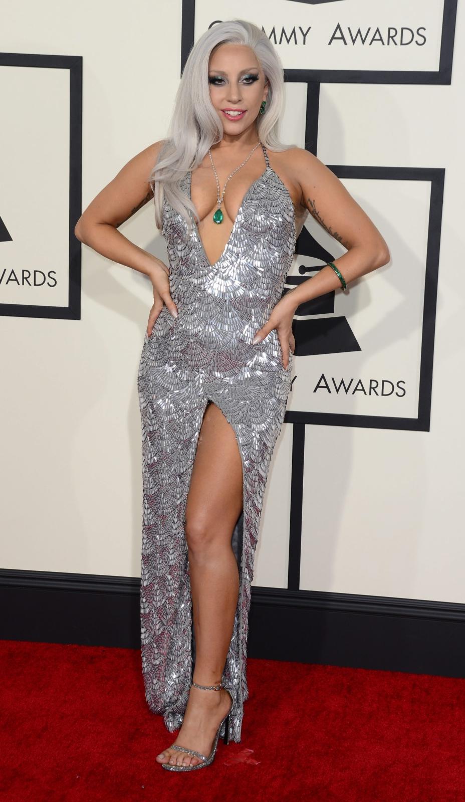 Najbardziej rozebrane gwiazdy na gali Grammy 2015: Lady Gaga