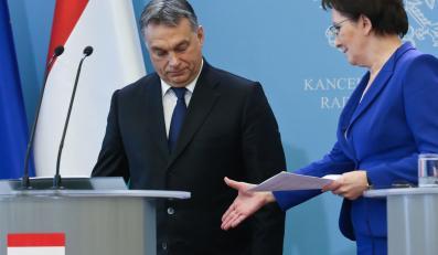 Viktor Orban i Ewa Kopacz