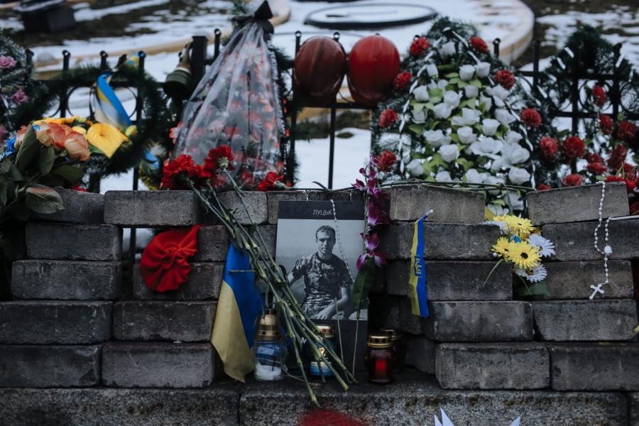 1. rocznica ataku na demonstrantów na Majdanie