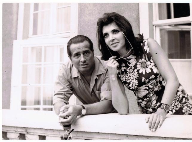 Halina Kunicka z mężem, Lucjanem Kydryńskim