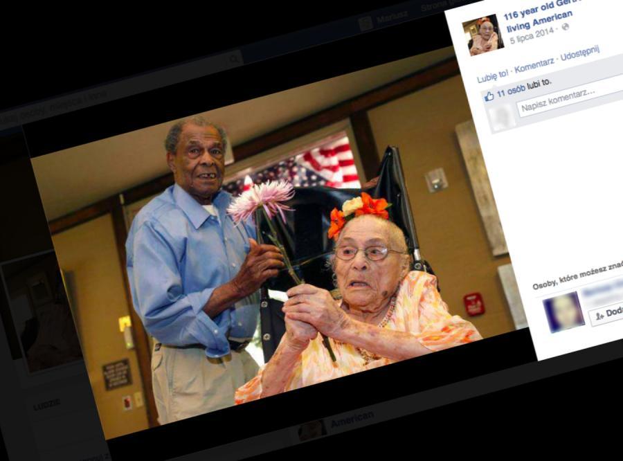 117-letnia Gertrude Weaver i jej 94-letni syn (fot. www.facebook.com/GertrudeWeaver116)