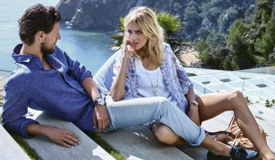 Anja Rubik i Sasha Knezevic w kampanii Massimo Dutti wiosna/lato 2015