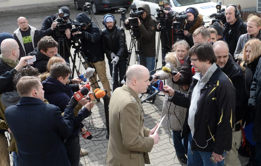 Rzecznik Naczelnej Prokuratury Wojskowej mjr Marcin Maksjan