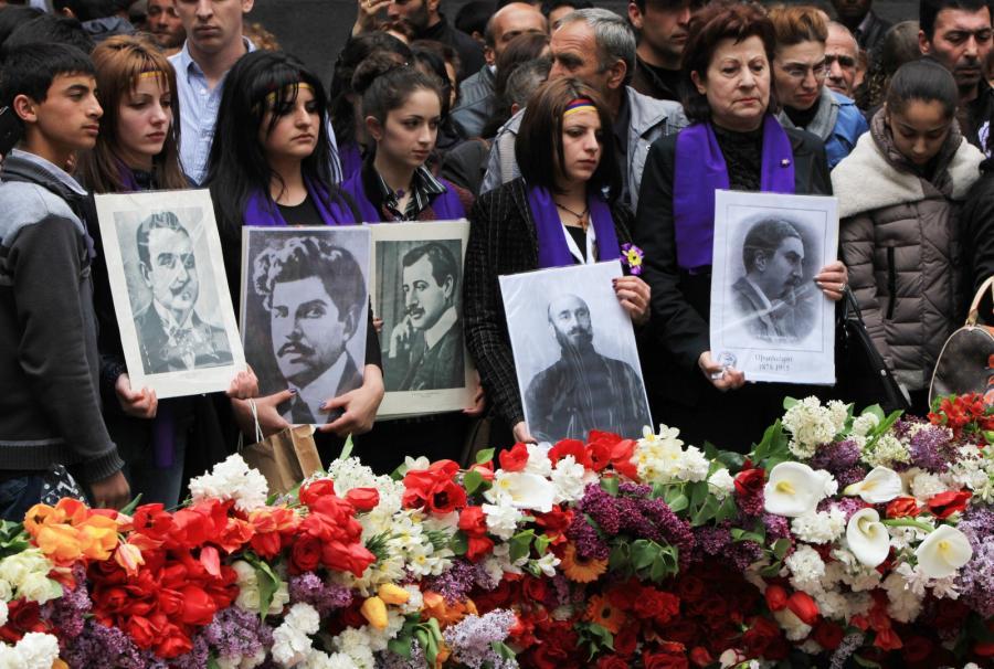 Uroczystości w Erewaniu upamiętniające ofiary ludobójstwa sprzed 100 lat