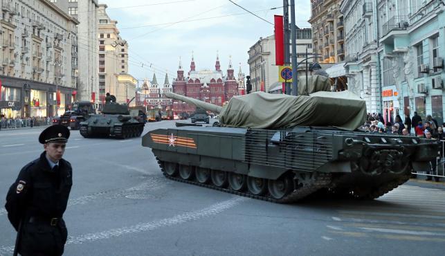 PRZYGOTOWANIA DO PARADY ZWYCIĘSTWA W MOSKWIE