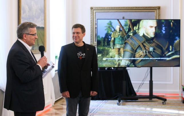 """Spotkanie prezydenta z twórcami gry """"Wiedźmin"""""""
