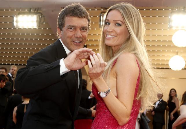 Antonio Banderas i Nicole Kimpel na festiwalu w Cannes