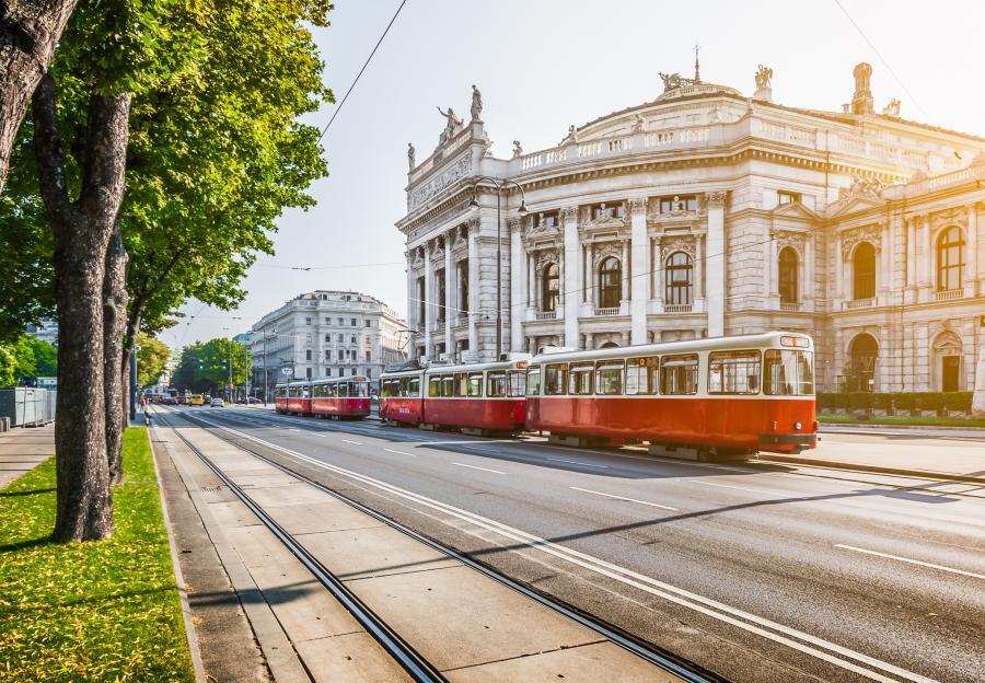 Tramwaj na Ringstrasse, Wiedeń, Austria