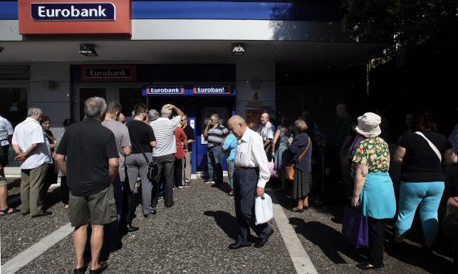 Kolejki do banków w Grecji