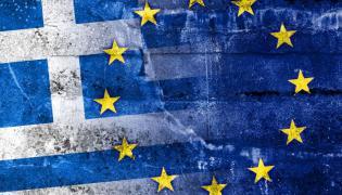 Flaga Grecji i UE