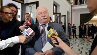 Lech Wałęsa w Sejmie na uroczystej inauguracji prezydentury Andrzeja Dudy