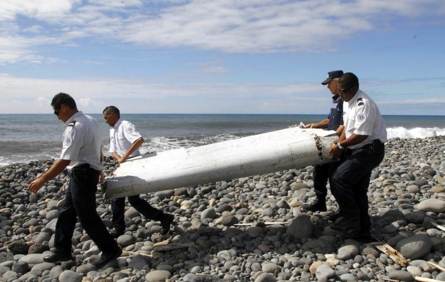 Fragment samolotu na wyspie Reunion