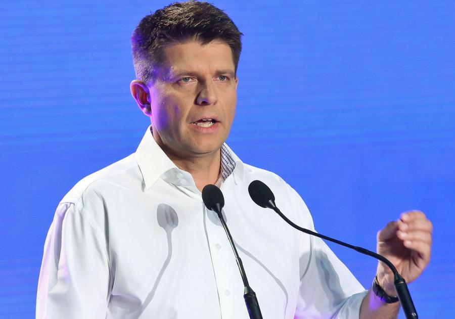 Lider ugrupowania Ryszard Petru podczas kongresu programowego Nowoczesnej