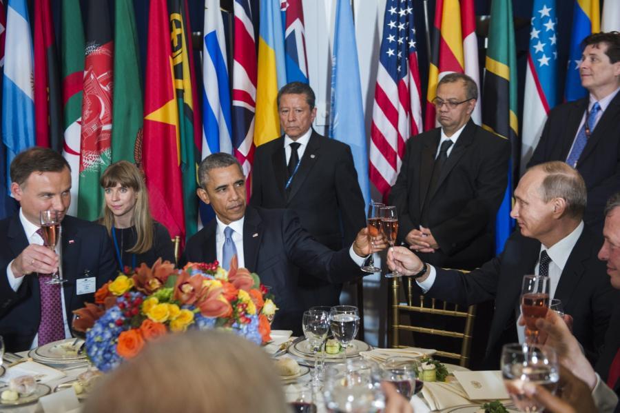 Andrzej Duda, Barack Obama, Władimir Putin