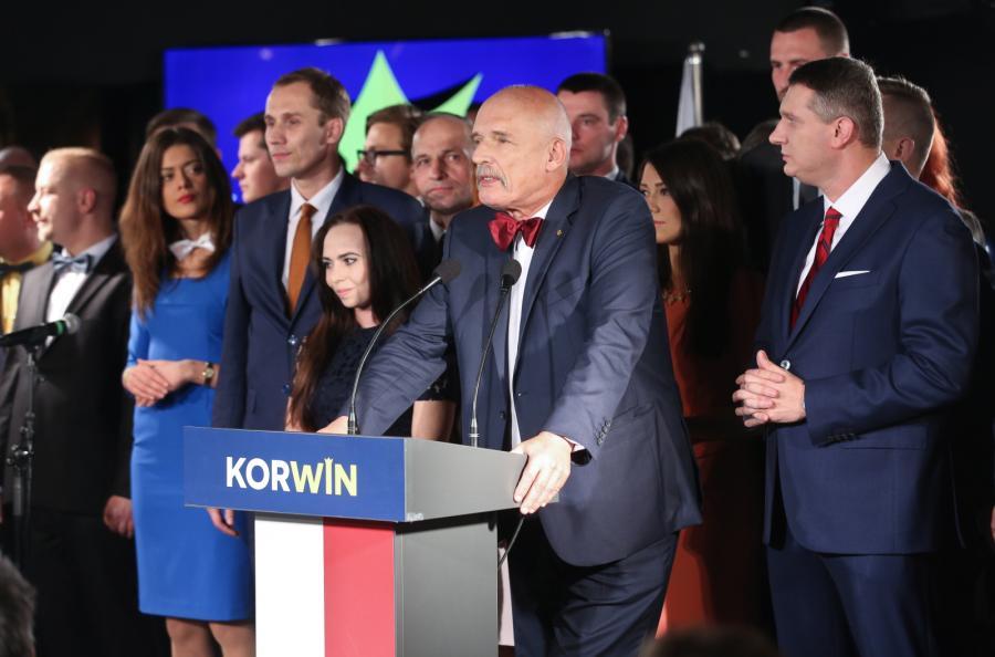 KORWiN - 4,9 proc., poza parlamentem