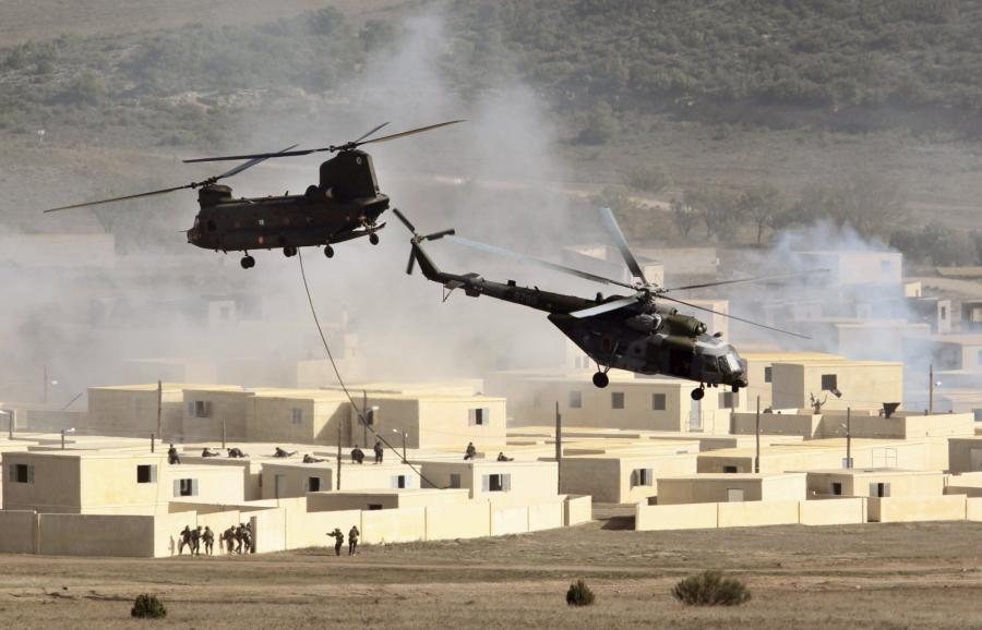 Helkoptery podczas ćwiczeń wojsk NATO