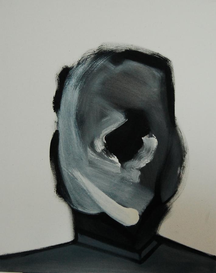 """""""Szkice do portretu 6"""", Cezary Bednarczyk, olej na płótnie, 50x40 cm"""