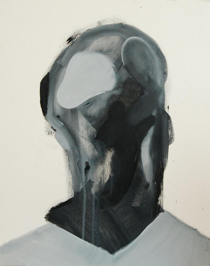 """""""Szkice do portretu 23"""", Cezary Bednarczyk, olej na płótnie, 50x40 cm"""