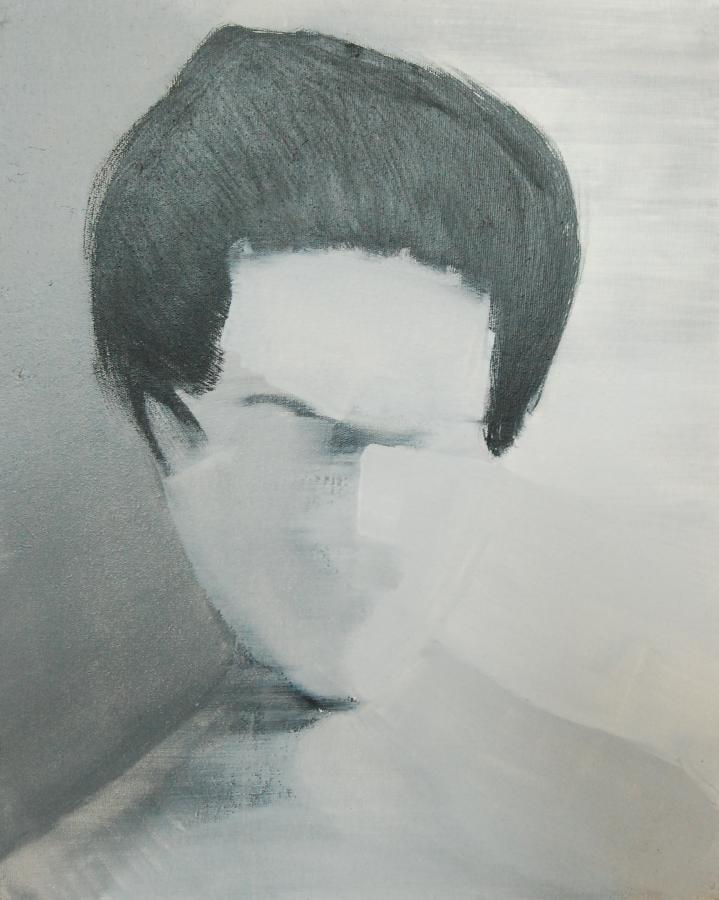 """""""Szkice do portretu 40"""", Cezary Bednarczyk, olej na płótnie, 50x40 cm"""