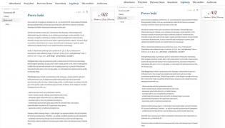 Informacja dotycząca prawa łaski na stronie prezydent.pl przed zmianą i po zmianie