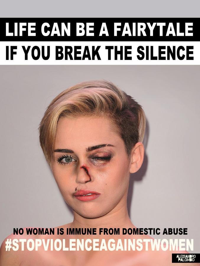 Miley Cyrus w kampanii #stopvilenceagainstwomen