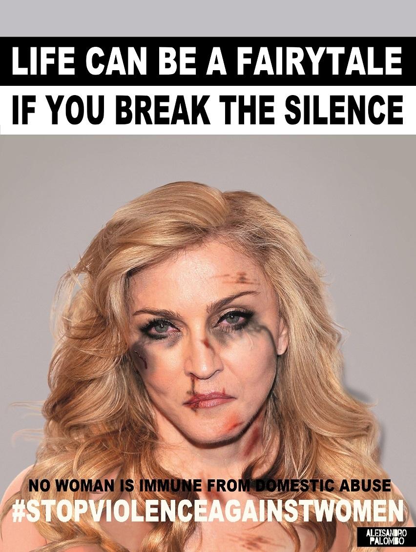 Madonna w kampanii #stopvilenceagainstwomen