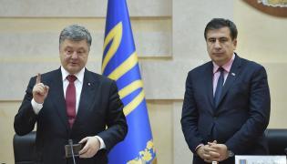 Petro Poroszenko i Micheil Saakaszwili